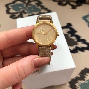 Nixon Kenzi Gold Shimmer Watch - New in Box!